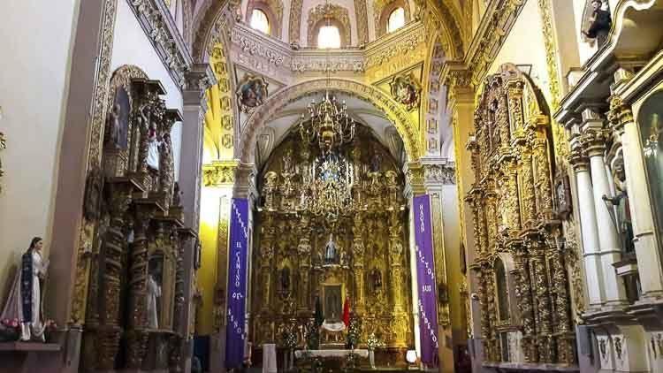 Retablo de la parroquia San Luis Obispo, Tlaxcala, Foto: Emanuel Romero Aguilar