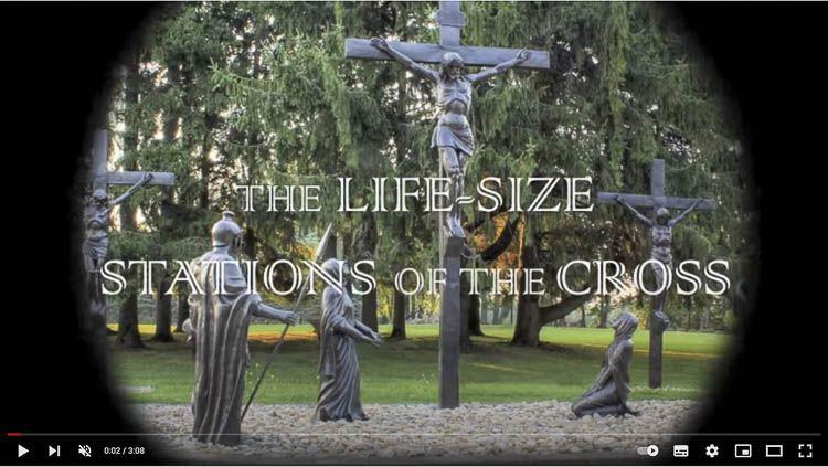 Clic para ver el Vía Crucis de tamaño natural en los terrenos del Santuario Nacional de la Divina Misericordia