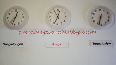 Relogios do Braga Pop Hostel