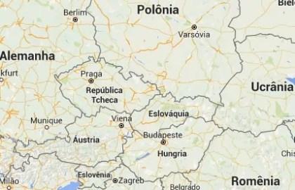 mapa leste europeu Eslováquia