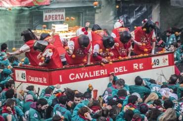 %name O carnaval histórico de Ivrea, na Itália.