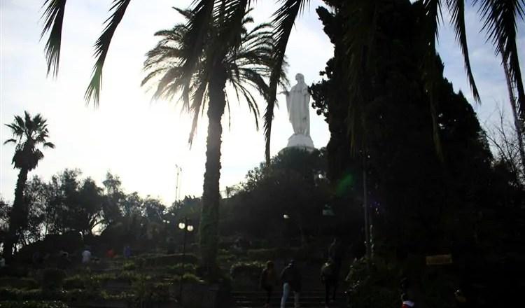 O Cerro San Cristóbal em Santiago do Chile
