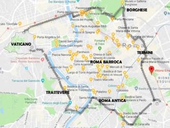 MAPA ROMA TURISTICA 333x250 Super Guia Roma: Roteiro com 67 atrações imperdíveis