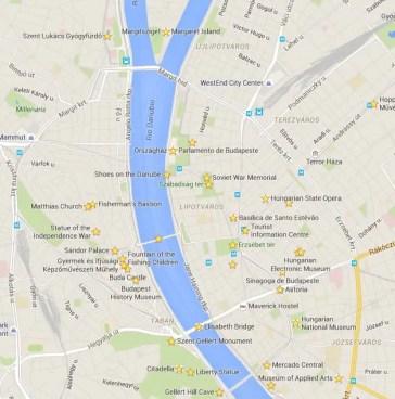 mapa budapeste Budapeste na Hungria