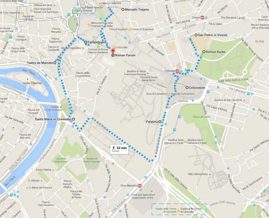roma antiga mapa 1024x830 Roma: a cidade eterna