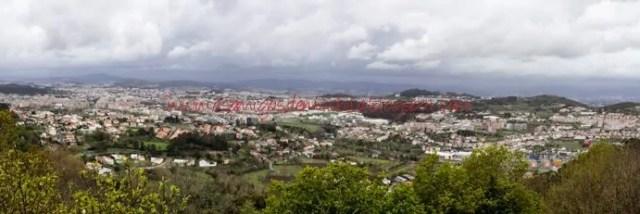 Panorama de Braga Um dia na cidade de Braga em Portugal