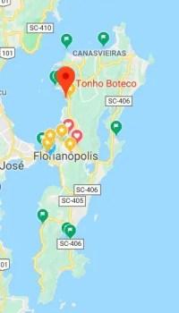Tonho Boteco Floripa Turistando.in map 228x400 Tonho Boteco Floripa: cerveja artesanal e comida de boteco