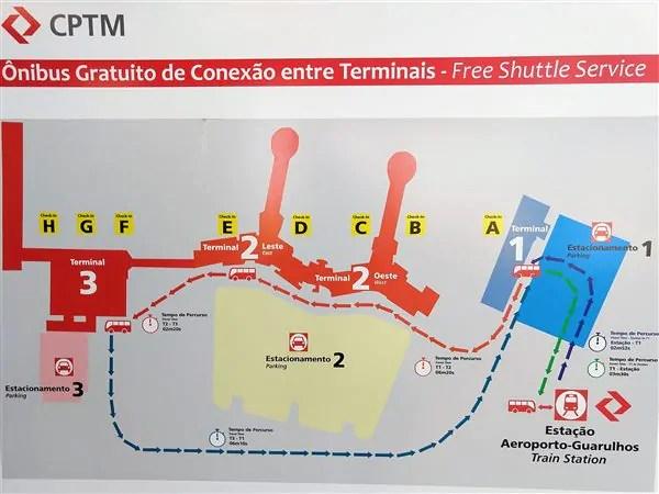 como pegar o trem do Aeroporto de Guarulhos 6 Como pegar o trem para o Aeroporto de Guarulhos (opção até o Brás)