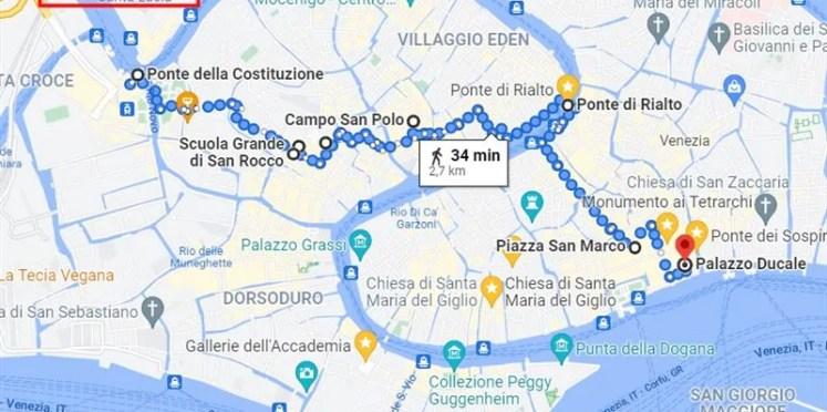 mapa roteiro o que fazer em veneza1 33 atrações em Veneza (Roteiro sequencial com mapa)