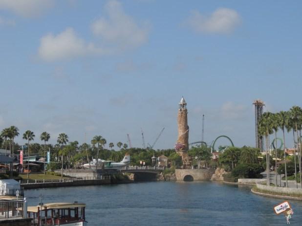 Vista de longo dos dois parques: Universal & Island