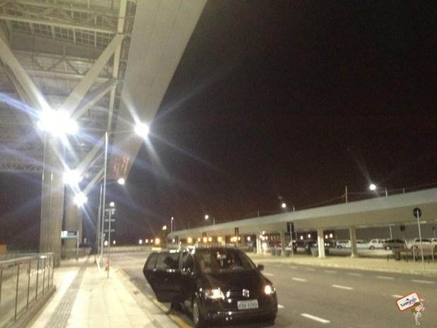 Chegando ao terminal internacional