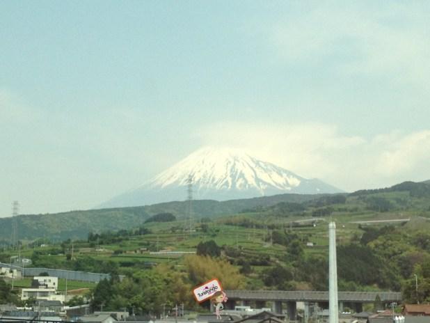 Aí está ele, lindo!!! Essa foto foi tirada em outro momento pois quando subimos o Fuji não tinha neve no topo.