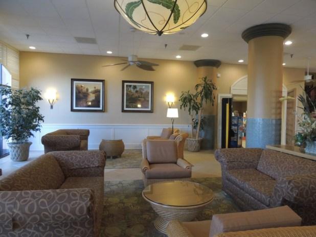 Lobby de entrada do hotel