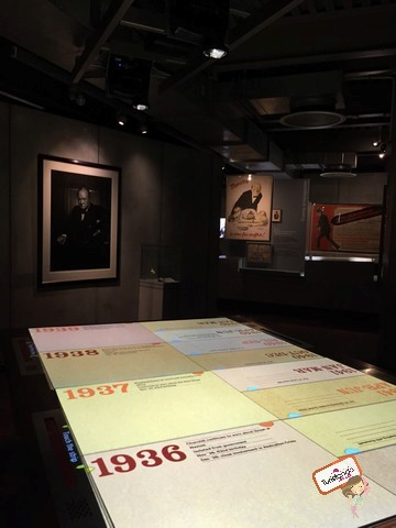 Essa é a mesa central onde você pode selecionar os eventos ao longo da história e entender mais detalhadamente o que aconteceu