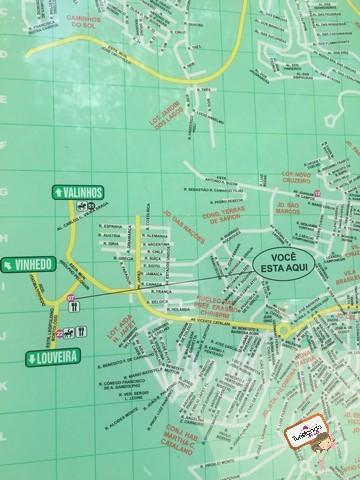 Mapa de acesso para o Bistecão do Dito em Vinhedo