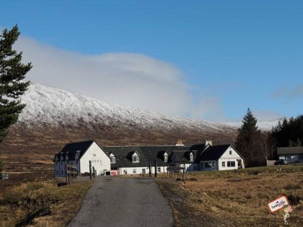 Esse é um famoso hotel que muitos escoceses usam para descansar, bem pertinho de Glen Coe