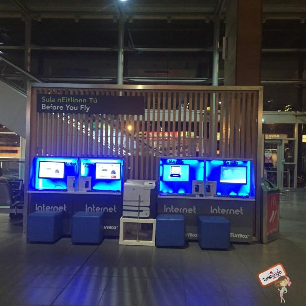 Terminal que usamos em Londres para fazer o check in