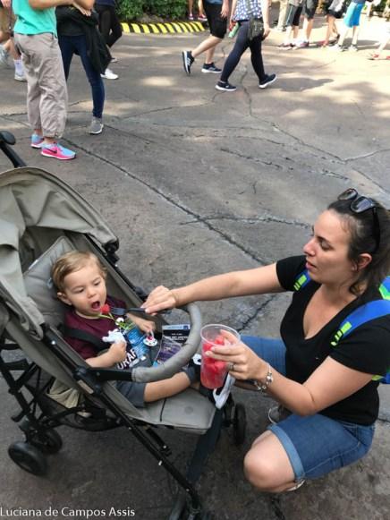alimentação de bebês em viagens