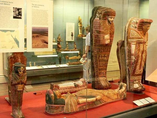 Momias egipcias en el Museo Británico