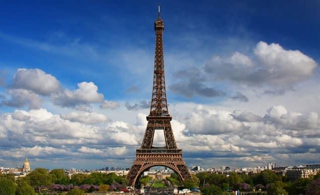 La famosa Torre Eiffel.