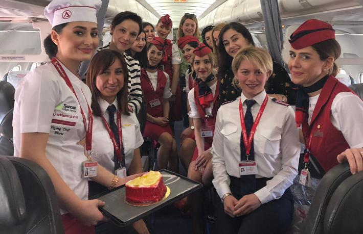 Atlasglobal'den Kadınlar Günü'nde çok özel uçuş