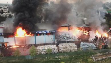 Photo of حريق كبير في منطقة استوش التجارية بولاية اسطنبول