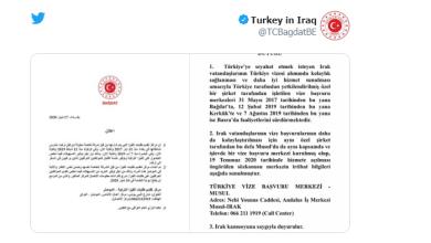 """Photo of تركيا: إنشاء مركز لطلبات الفيزا في """"الموصل"""" العراقية"""