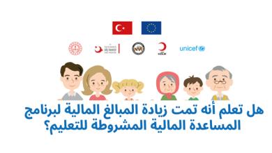 Photo of الهلال الأحمر التركي يعلن زيادة قيمة المساعدات المالية المشروطة للتعليم