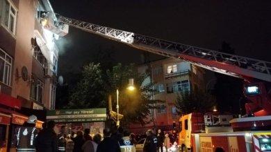 Photo of حريق كبير بمبنى في ولاية اسطنبول