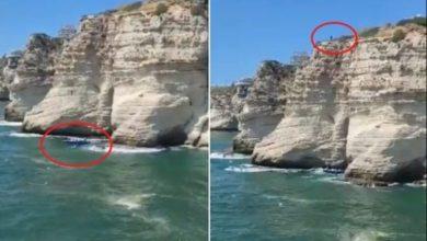 Photo of شاهد وفاة شاب سوري أثناء القفز عن صخرة الروشة ببيروت