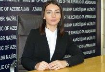 Azərbaycan Xarici İşlər Nazirliyinin Mətbuat xidməti idarəsinin rəisiLeyla Abdullayeva