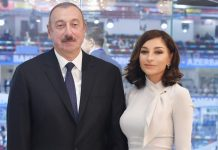 Azərbaycan Respublikasının Prezidenti İlham Əliyev və birinci xanım Mehriban Əliyeva