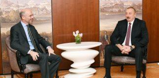 Azərbaycan Respublikasının Prezidenti İlham Əliyev və Beynəlxalq Böhran Qrupunun prezidenti və baş icraçı direktoru Robert Malley