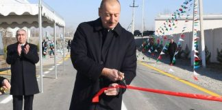 Prezident İlham Əliyev Pirili-Muradxan-Sor-Sor avtomobil yolunun yenidənqurmadan sonra açılışında iştirak edib