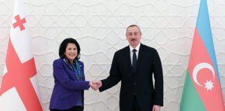 Azərbaycan Respublikasının Prezidenti İlham Əliyev və Gürcüstanın Prezidenti Salome Zurabişvili