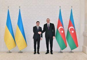 Ukrayna Prezidenti Vladimir Zelenski vəAzərbaycan Respublikasının Prezidentiİlham Əliyev