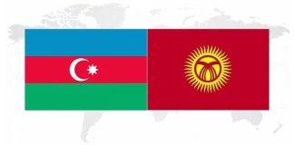 Azərbaycan Respublikası və Qırğız Respublikası bayraqları
