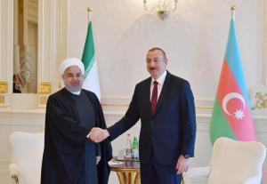 Respublikasının Prezidenti İlham Əliyev və İran İslam Respublikasının Prezidenti Həsən Ruhani