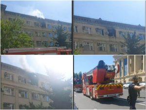 Azərbaycan Respublikası Ədliyyə Nazirliyinin inzibati binasında yanğın