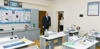 Prezident İlham Əliyev Bakıdakı 251 nömrəli məktəbdə aparılan əsaslı təmir işləri ilə tanış olub
