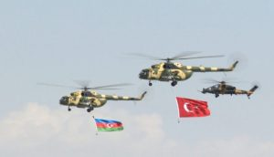 Naxçıvan səmasını Azərbaycan və Türkiyə bayraqları bəzəyib
