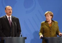 Almaniya Kansleri Angela Merkel və Azərbaycan Respublikasının Prezidenti İlham Əliyev
