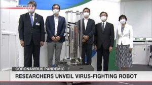 ultrabənövşəyi şüalar vasitəsilə koronavirusu məhv edən robot