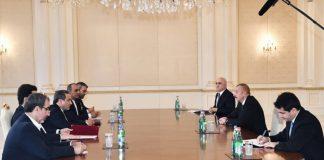 Prezident İlham Əliyev İran Prezidentinin xüsusi nümayəndəsinin başçılıq etdiyi nümayəndə heyətini qəbul edib