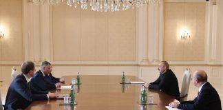 Azərbaycan Respublikasının Prezidenti İlham Əliyev Rusiya Federasiyasının fövqəladə hallar naziri Yevgeni Ziniçevi qəbul edib
