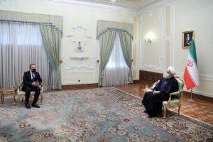 Xarici İşlər Nazirliyi nazir Ceyhun Bayramov və İran İslam Respublikasının Prezidenti Həsən Ruhani
