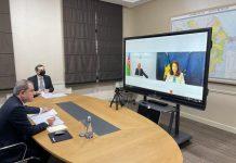 Azərbaycan Respublikasının xarici işlər naziri Ceyhun Bayramov və İsveç Krallığının xarici işlər naziri Ann Linde