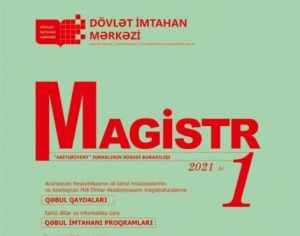 """""""Magistr"""" jurnalı"""