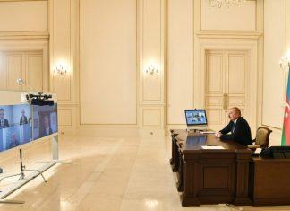 """Prezident İlham Əliyev """"Signify"""" şirkətinin baş icraçı direktorunu və şirkətin rəhbərliyinin digər nümayəndələrini videoformatda qəbul edib"""