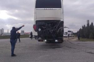 Sumqayıtda qatarla avtobusun toqquşması ilə bağlı rəsmi açıqlama